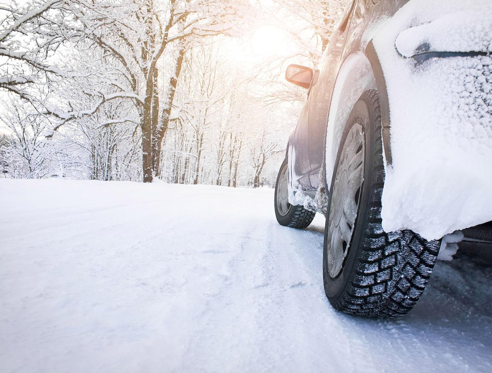 chauffer la voiture neige