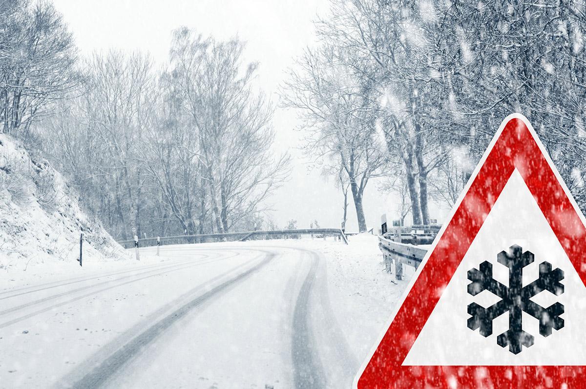 route enneigée hiver
