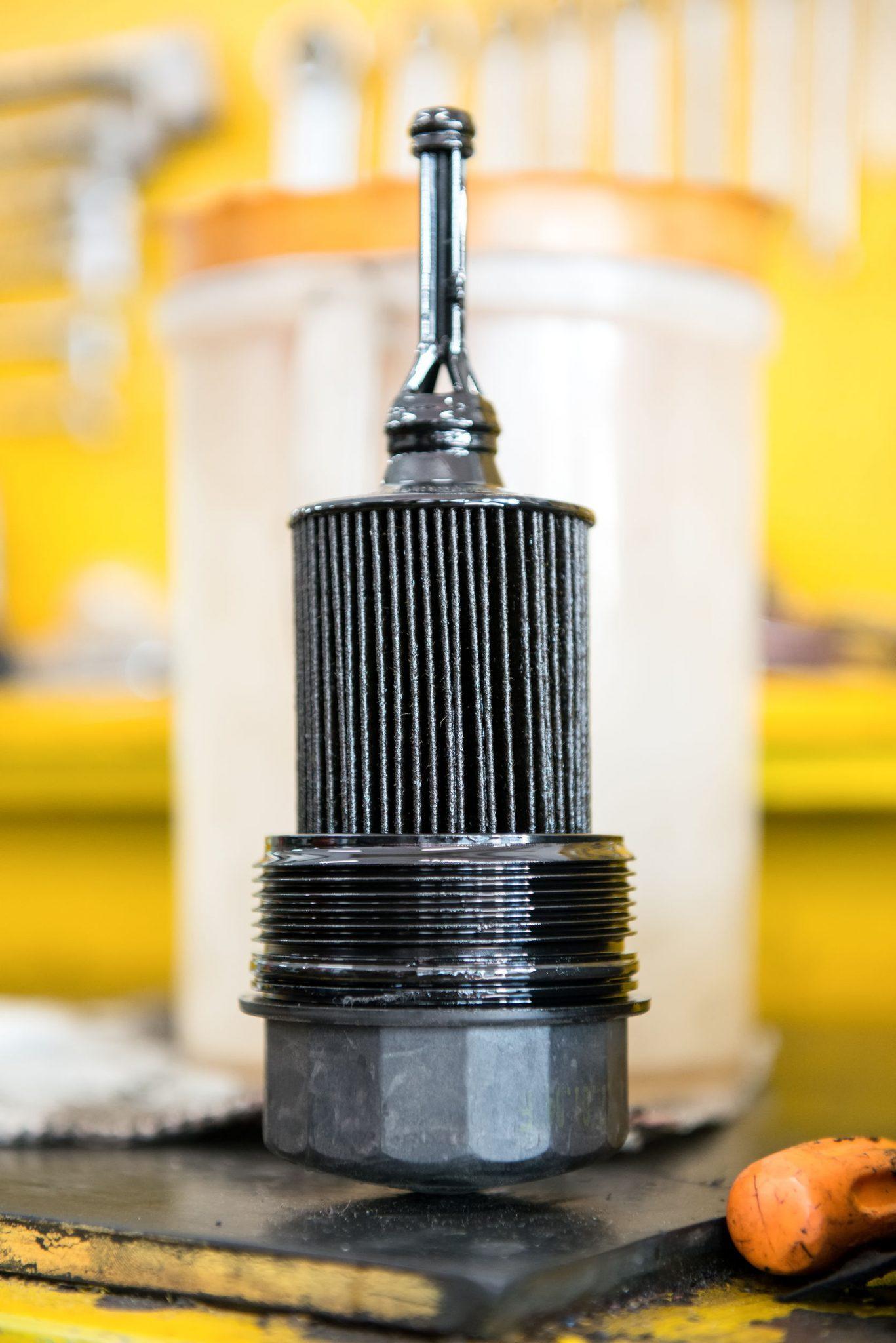 filtre à huile debout